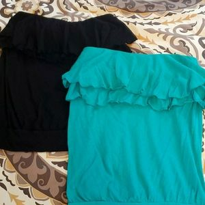 Lot of 2 express tops